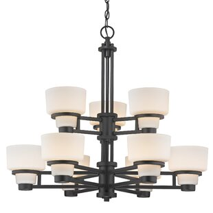 Saxon 9-Light Shaded Chandelier by Dolan Designs