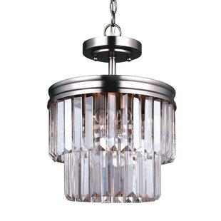 Willa Arlo Interiors Domenique 2-Light Crystal Pendant
