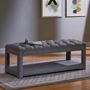 Alcott Hill Karlton Upholstered Storage Bench