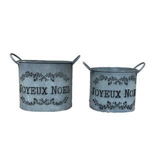 Kiska 2 Piece Plant Pot Set By Lily Manor