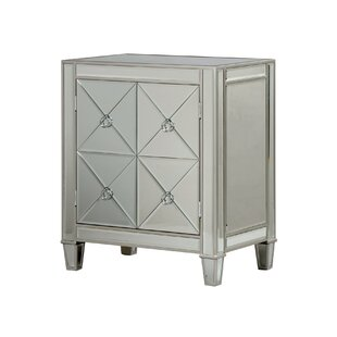 Monroe Street Beveled Mirror 2 Door Accent Cabinet by House of Hampton