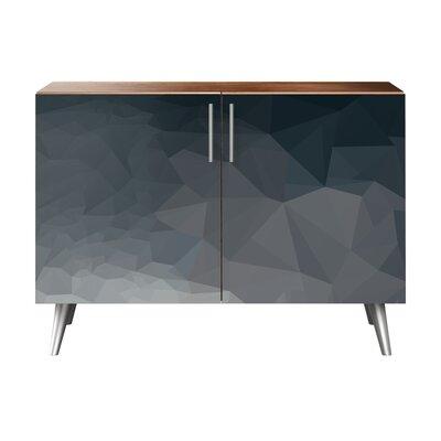 Brayden Studio Neff 2 Door Cabinet Brayden Studio Color Chrome Walnut Warehouse Direct Furniture
