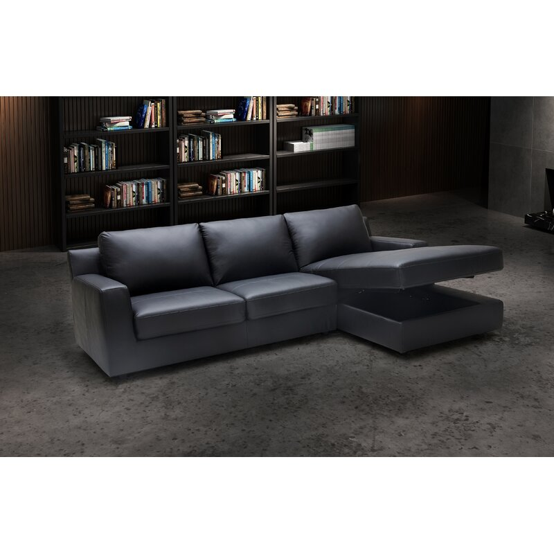 Becker Leather Sleeper Sectional