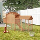 Belinda Deluxe Portable Backyard Chicken Coop with Nesting Box