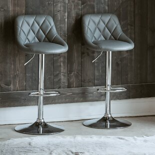 Purchase Amani Adjustable Height Swivel Bar Stool (Set of 2) by Orren Ellis Reviews (2019) & Buyer's Guide