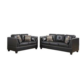 Bobkona Zenda 2 Piece Living Room Set by Poundex
