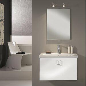Urban Designs 80 cm Wandmontierter Waschtisch Clever mit Spiegel, Armatur und Schrank