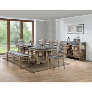 Millwood Pines Whitehurst Multifunctional Wooden Dining Table
