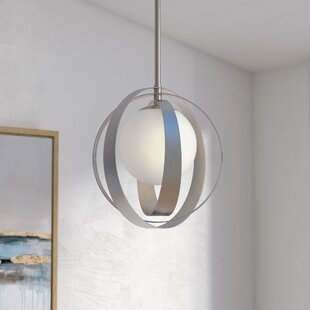 Wade Logan Bacher 1-Light Globe Pendant