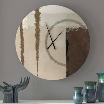 Ebern Designs Real Hunky Abstract Wall Clock Wayfair