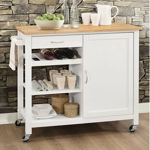 Furlow Wheeled Kitchen Island Ebern Designs