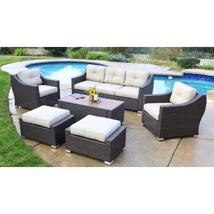 Suai 6 Piece Sofa Seating Group with Cushions