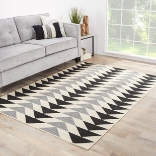 Anette Ivory/Black/Gray Indoor/Outdoor Area Rug