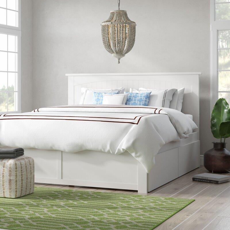 Beachcrest Home Très grand lit plateforme avec rangement Graham et Commentaires | Wayfair.ca