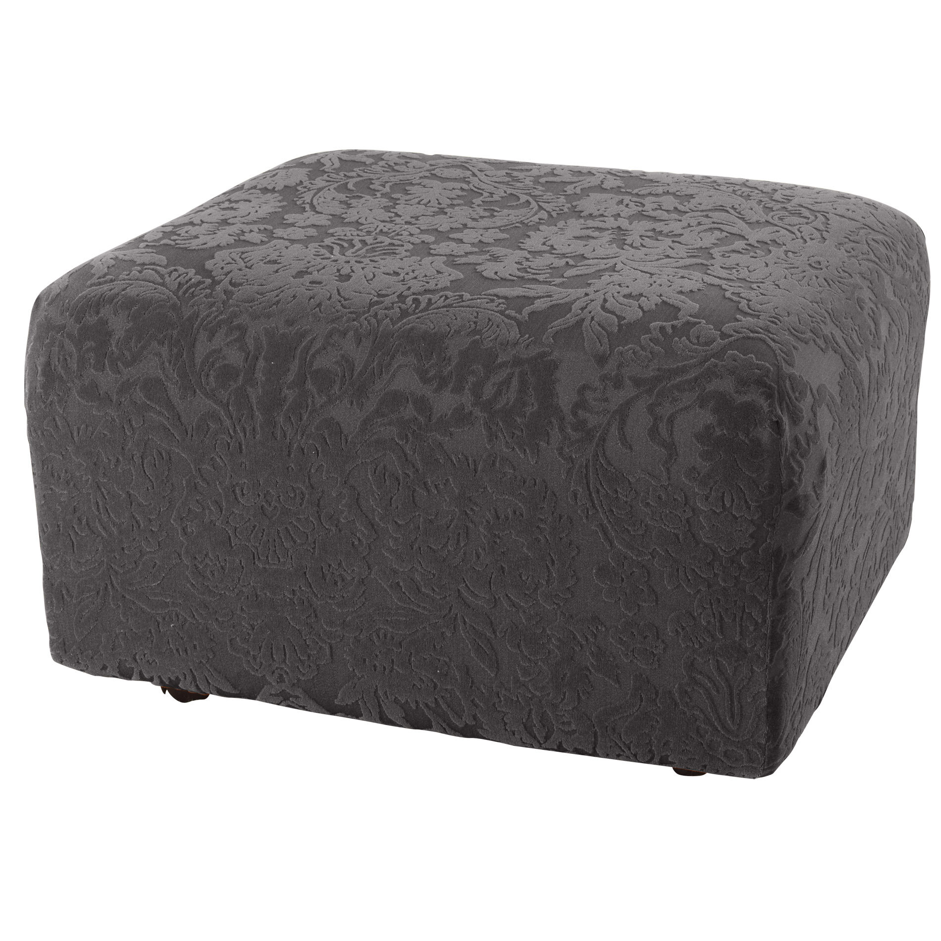 sure fit stretch jacquard damask ottoman slipcover  u0026 reviews   wayfair  rh   wayfair