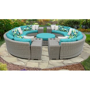 Coast 11 Piece Outdoor Sectional Seating Group with Cushions
