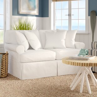 Beachcrest Home Coral Gables Slipcovered Loveseat
