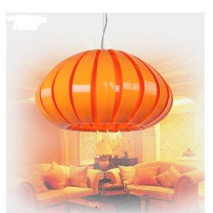 Quedgeley Pumpkin 1-Light Novelty Pendant by Orren Ellis