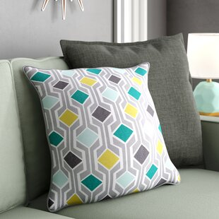 Antonia Contemporary Geometric Woven Cotton Throw Pillow