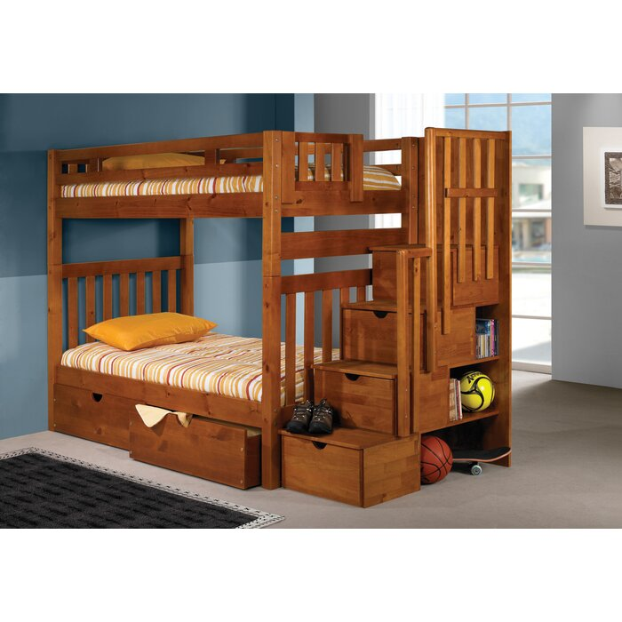 Langley Futon Bunk Bed With Drawers