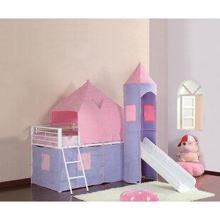 Brampton Princess Castle Twin Low Loft Bed by Harriet Bee
