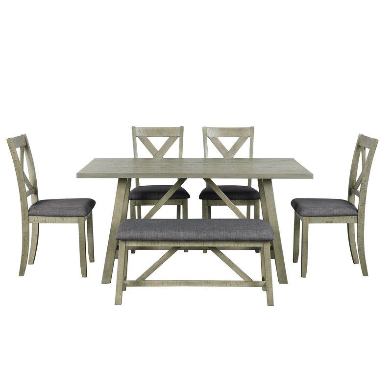 Gracie Oaks Aurand 6 - Piece Dining Set