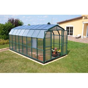 Rion Greenhouses Prestige 2 Twin Wall 8 Ft. W x 16 Ft. D Greenhouse