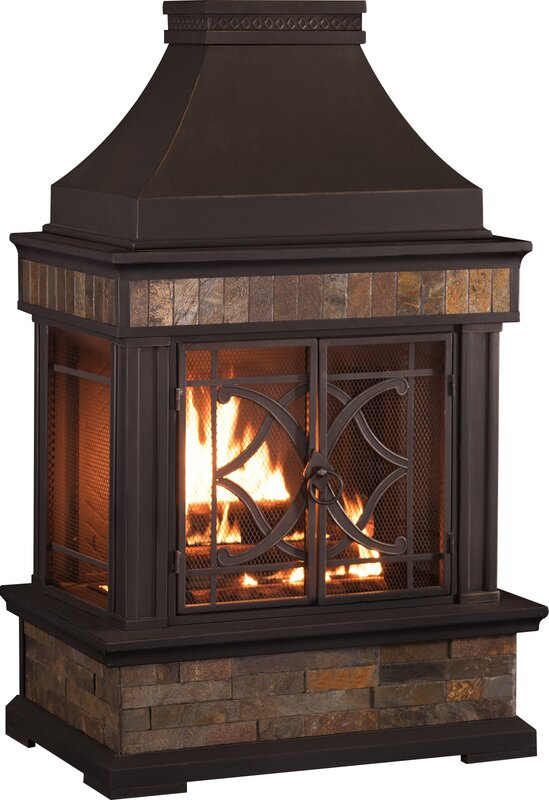 Heirloom Steel Wood Burning Outdoor Fireplace