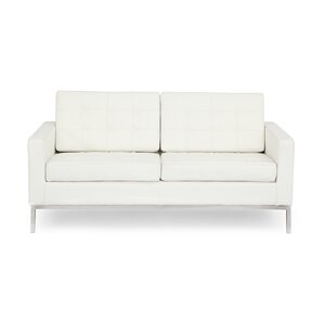 Modern Leather Loveseat by Kardiel
