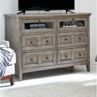 Corn Wood 4 Drawer Media Chest