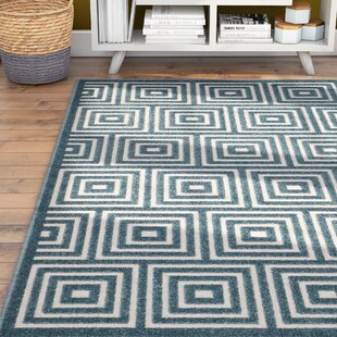 Candor Contemporary Light /Blue Indoor/Oudoor Area Rug