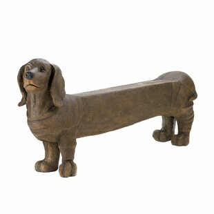 Brockport Long Daschund Dog Bench by Winston Porter #2