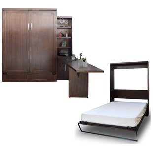 Brayden Studio Quinn Queen Murphy Bed with Door Bookcase and Desk
