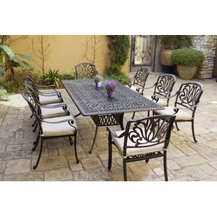 Burciaga 9 Piece Dining Set with Cushions by Canora Grey
