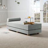 Ishee Convertible Queen Solid Wood Daybed with Mattress by Mercury Row