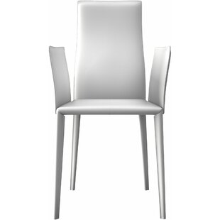 Modloft Lucca Genuine Leather Upholstered Dining Chair