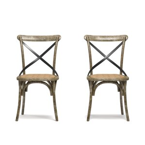 Canfield Solid Wood Dining Chair (Set of 2) by Beachcrest Home