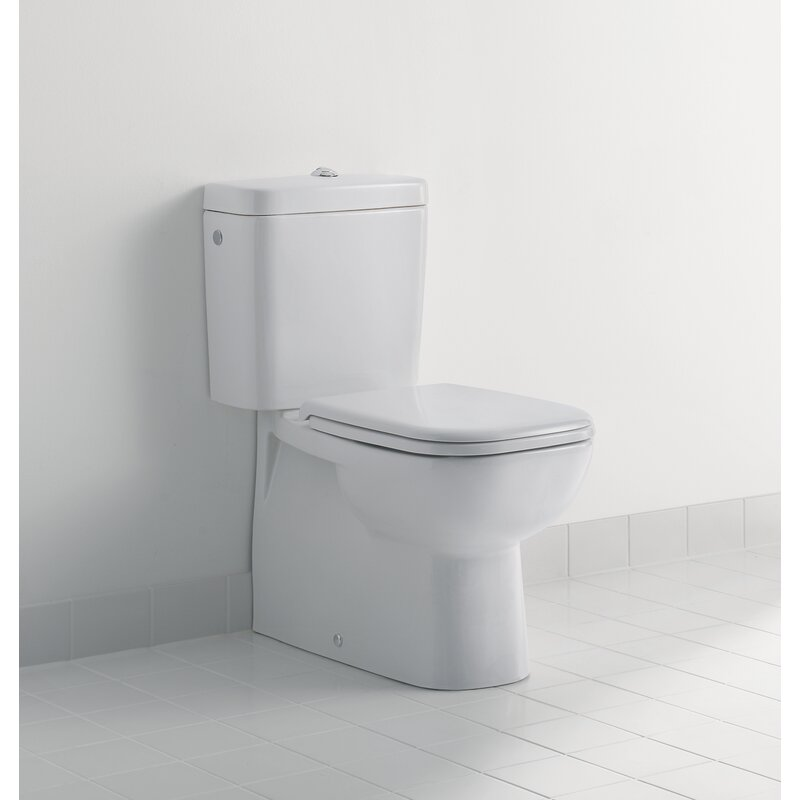 Duravit D Code 1 28 Gpf Water Efficient Elongated Two Piece Toilet Seat Not Included Wayfair