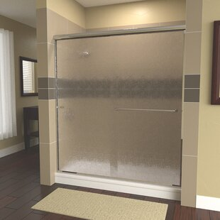 Ese 60 x 80 Bypass Semi-Frameless Shower Door by Arizona Shower Door