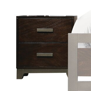 Claremore 2 Drawer Nightstand