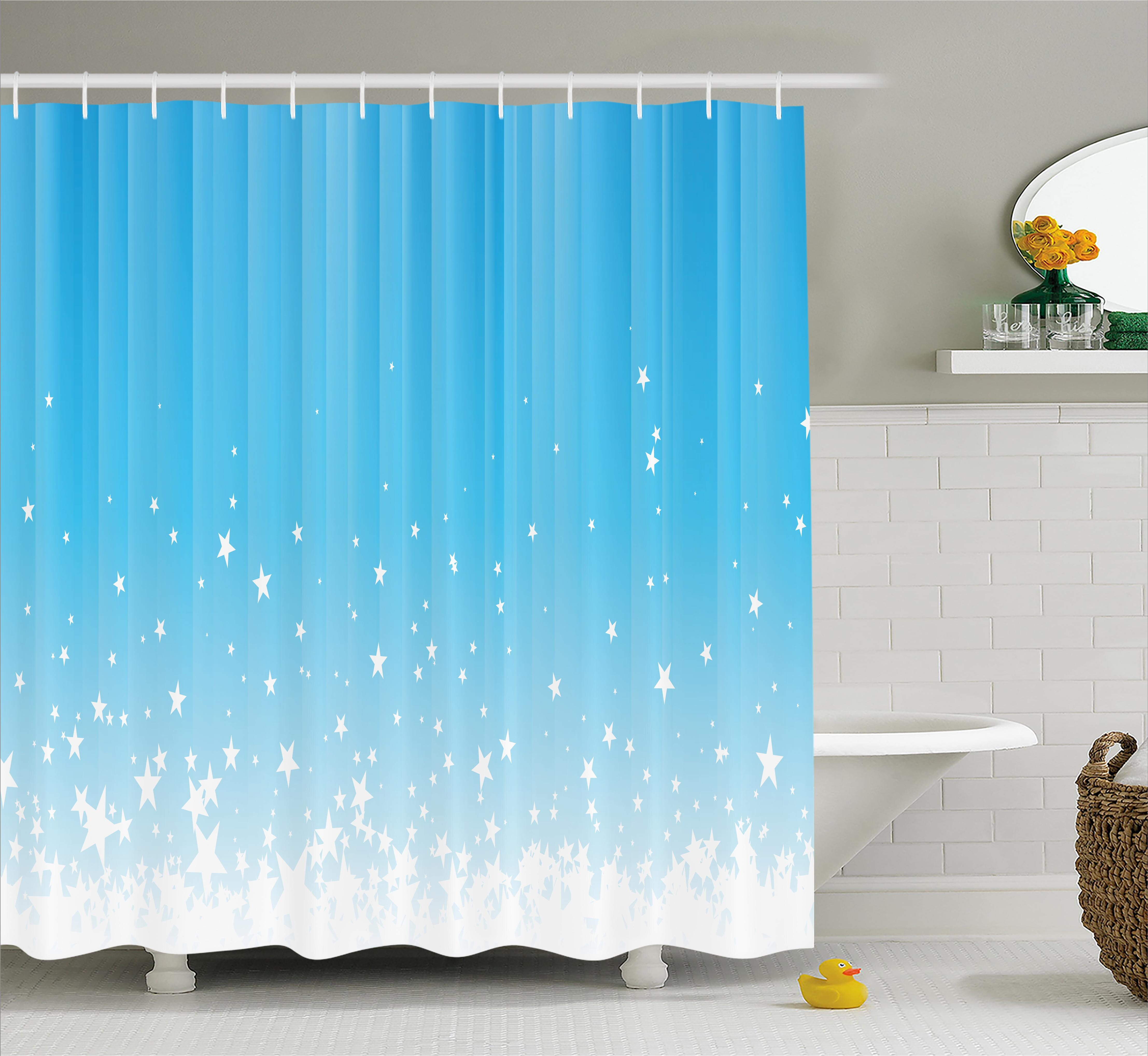 Zoomie Kids Marianne Star Vibrant Celestial Shower Curtain ...