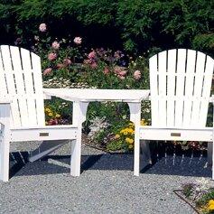 Seaside Casual Adirondack Tete-a-Tete Att..