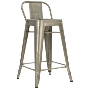 Crosland 26 Metal-Galvanized Bar Stool (Set Of 2) by Williston Forge No Copoun