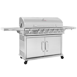 Pre-Assembled 6-Burner Propane Gas Grill with infrared burner by Royal Gourmet Corp