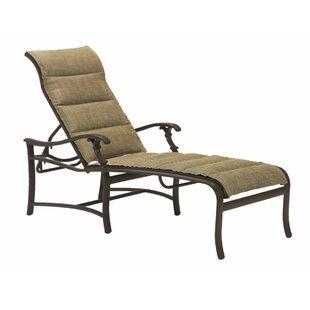 Tropitone Ravello Padded Sling Reclining Chaise Lounge