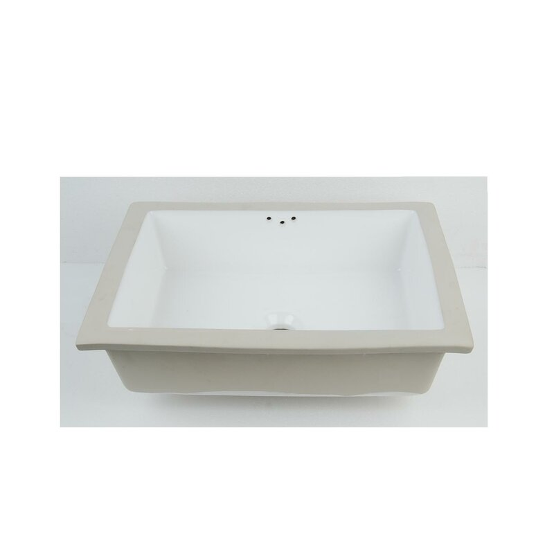 D Vontz Vitreous China Rectangular Undermount Bathroom Sink With Overflow Perigold