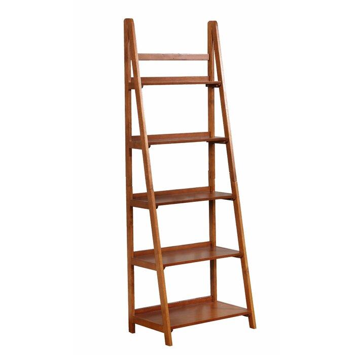 Tremaine Wooden Ladder Bookcase
