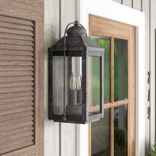 August Grove Dulcie 2-Light Outdoor Flush Mount
