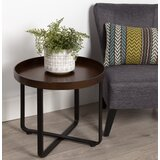 Quiles Round Metal End Table by Mercury Row®