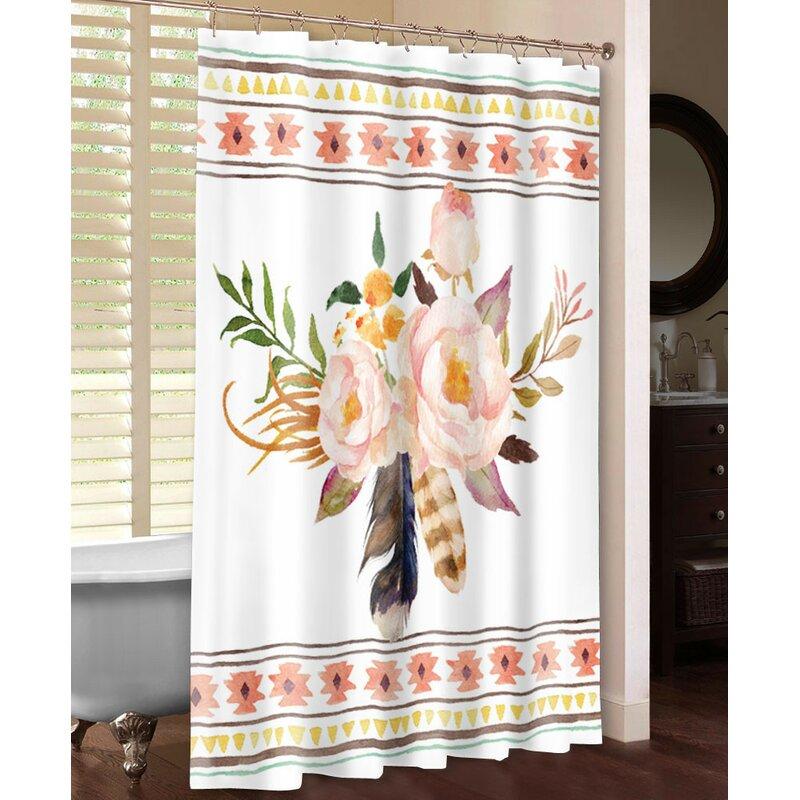 Tribal Flowers Shower Curtain